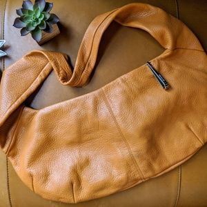 Pergolesi Italy vintage pebbled leather hobo bag
